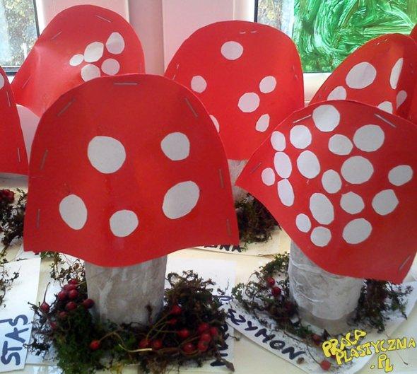 поделка гриб детская в саду