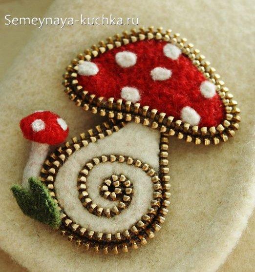 грибы своими руками из войлока