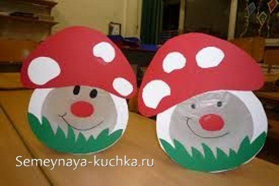 детская поделка гриб