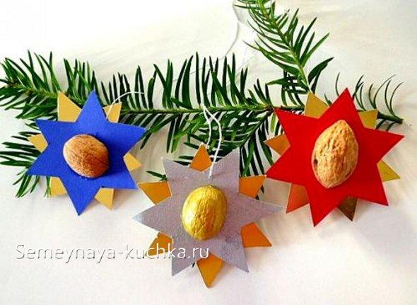 новогодние поделки из орехов