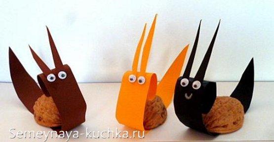 детские поделки из орехов