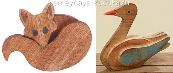 деревянная поделка для дачи