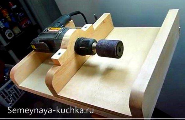 как сделать шлифовальный станок для поделок