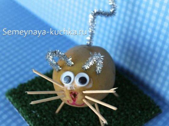 поделка из картошки мышка
