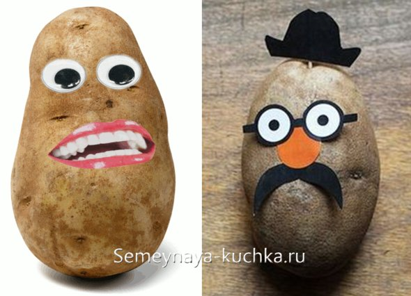 поделки детские из картошки