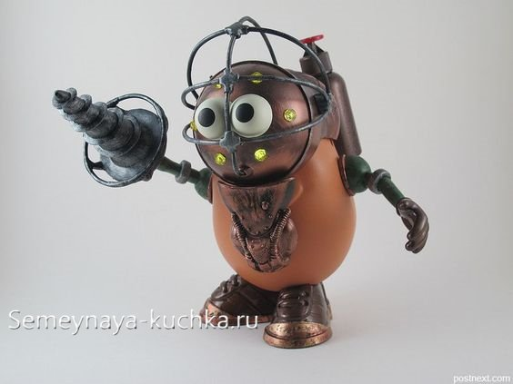 робот из картошки поделка
