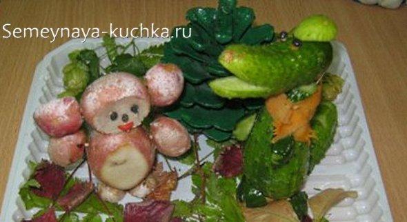 поделка из картошки чебурашка
