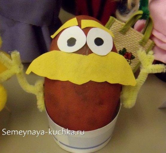 поделка из картошки для детей