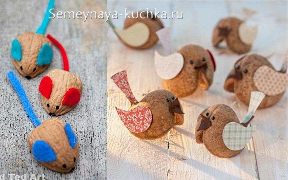 поделки детские из грецких орехов своими руками