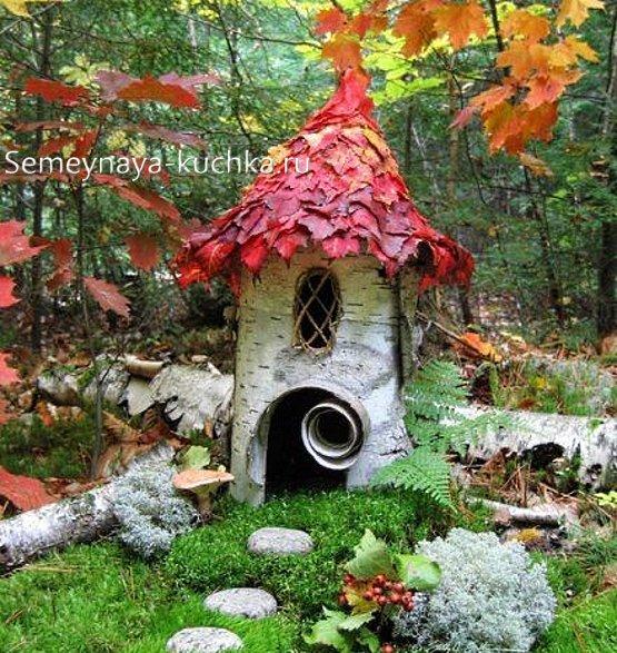 домик феи из природного материала