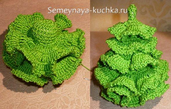 вязаная елка поделка