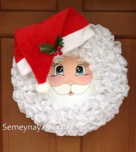 новогоднее панно дед мороз