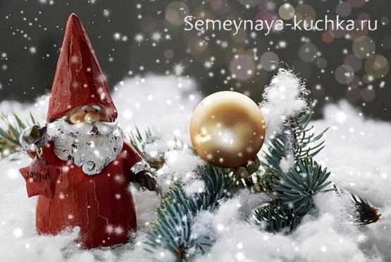 поделка дед мороз новогодний фигурка