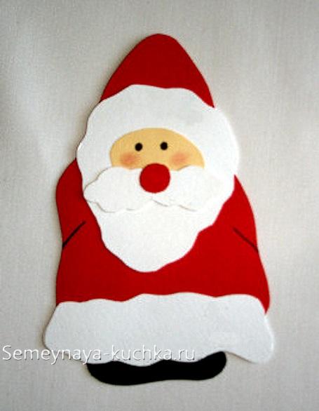 дед мороз новогодний из картона
