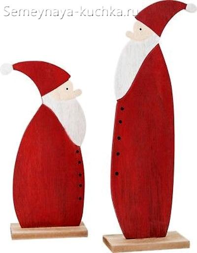 новогодний дед мороз сделать из дерева
