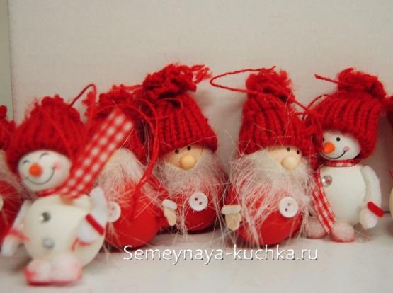 новогодний дед мороз поделка своими руками