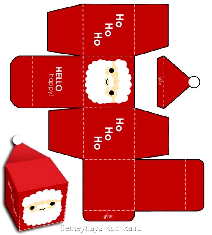 Новогодний дед мороз коробочка