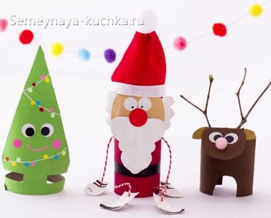 новогодний дед мороз из рулона