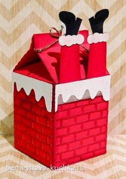 коробочка дед мороз новогодняя упаковка