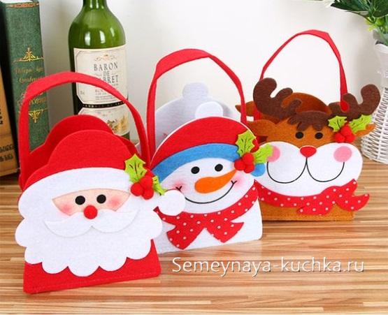 упаковка новогодняя дед мороз снеговик