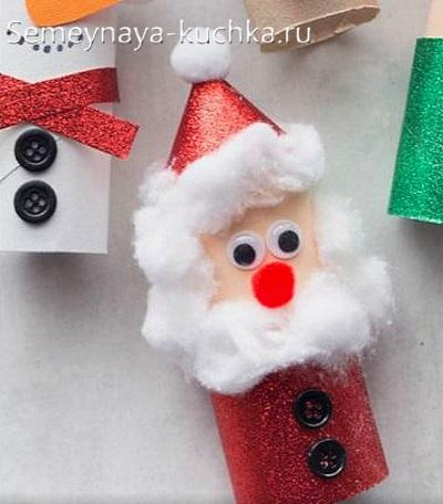 поделка дед мороз новогодний