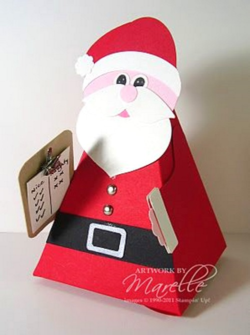 поделка новогодний дед мороз для детей из картона