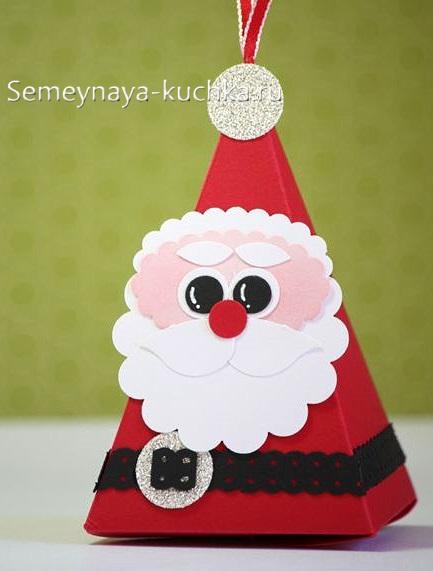поделка пирамида дед мороз новогодний