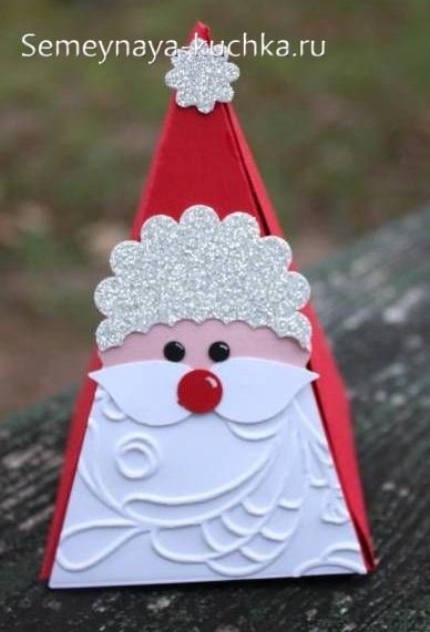 новогодняя поделка дед мороз