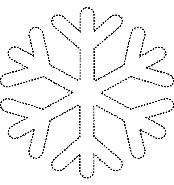 шаблон снежинки своими руками