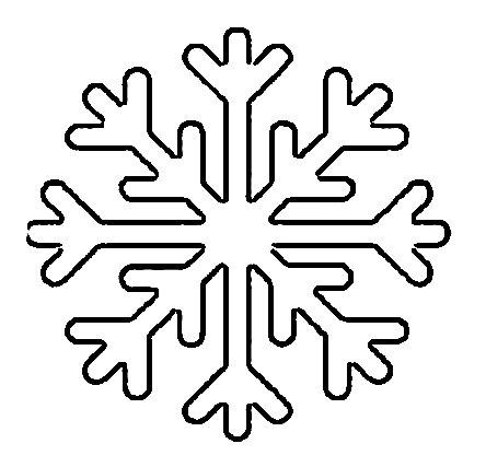 снежинка из бумаги шаблон