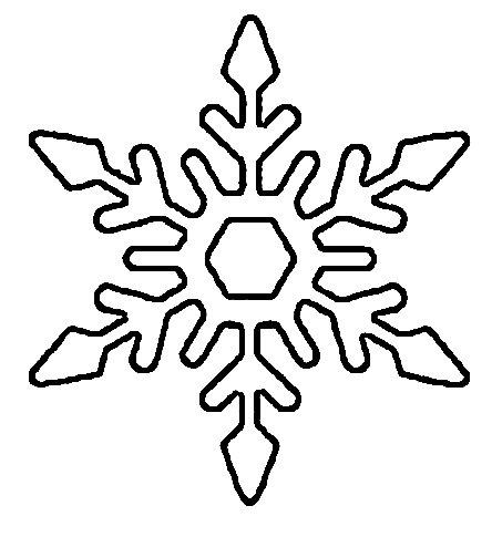 трафарет снежинка из бумаги на новый год