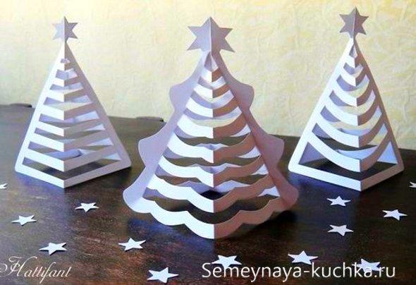 новый год елка из бумаги