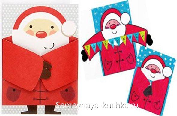 из бумаги на новый год дед мороз