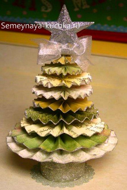 елка новый год из бумаги