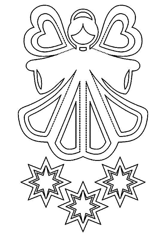 схема шаблон ангел на окно