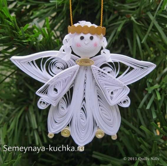 ангел на новый год из бумаги