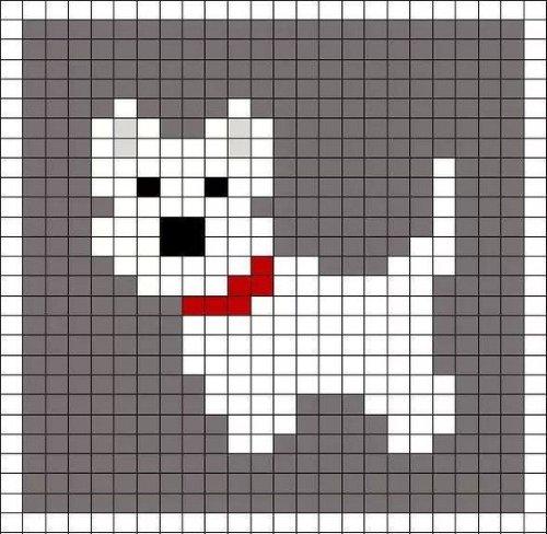 вышивка собака простая детям