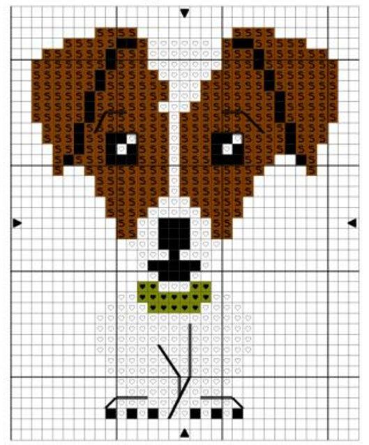 схема крестиком собака