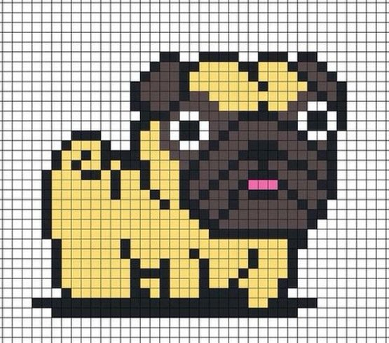 схема вышивки собака крестом