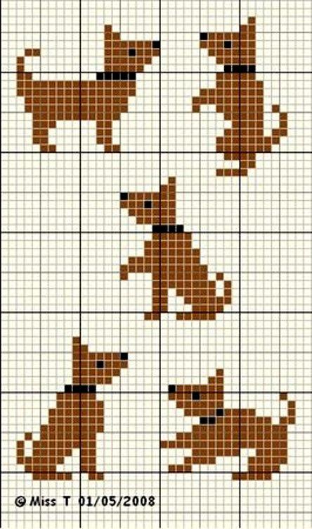 вышивка собаки схема для детей