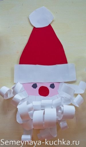 дед мороз из бумаги детская аппликация