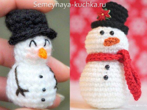 снеговик крючком своими руками