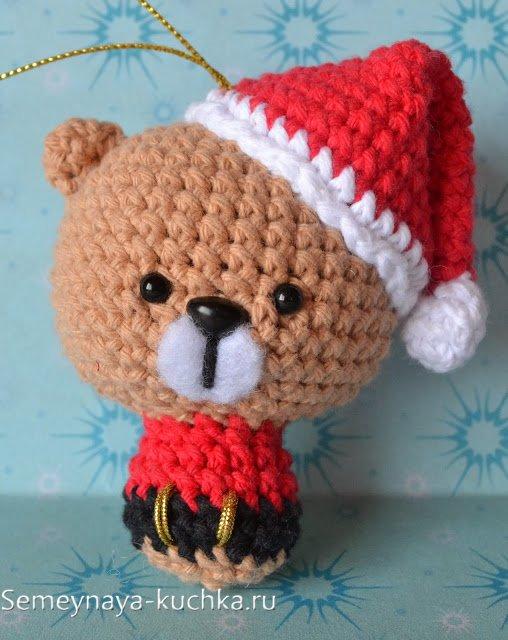 игрушки крючком на елку новогоднюю