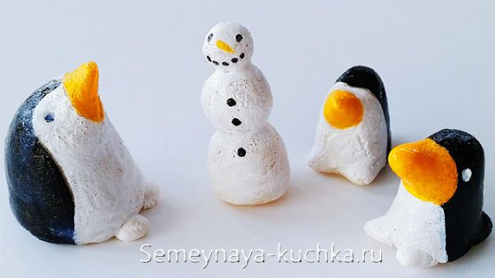 поделка пингвин из соленого теста