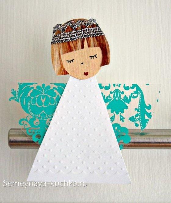 поделка ангел из бумаги для детей