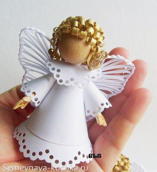 поделка ангел из бумаги