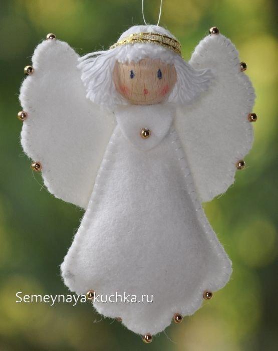 ангел сшить из фетра