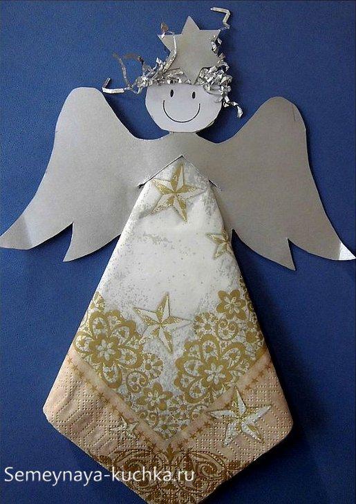 поделка ангел новогодний