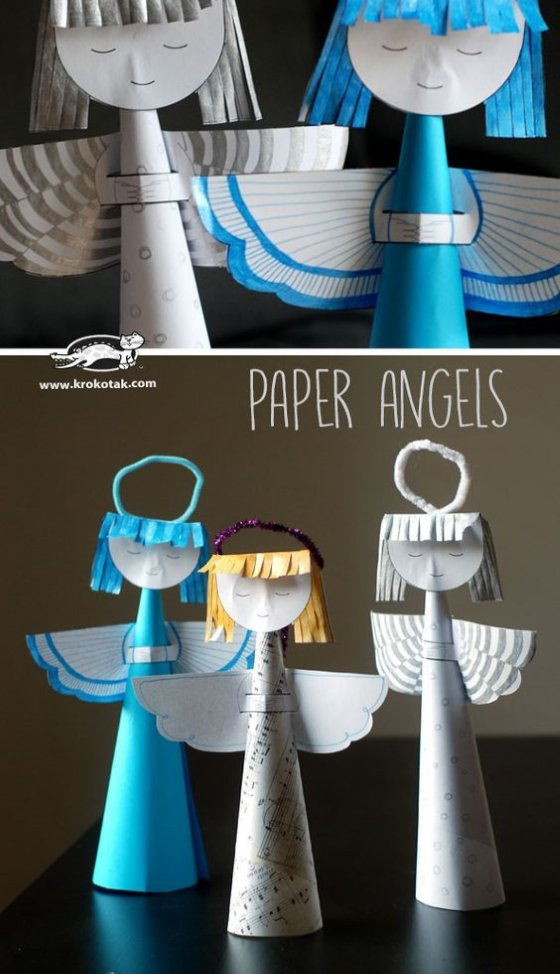 бумажный ангел поделка