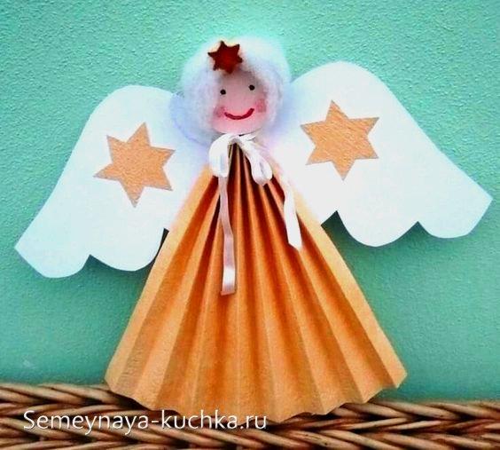 ангел поделка для детей на новый год